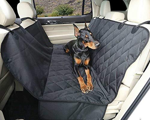 Funda Protector de Asientos para el Coche-Transportin para Perros-Asiento Accesorios Mascotas Cubre Puertas, Impermeable, Resistente, Grande, Lavable-Funda Protectora con Solapas Laterales para Perro