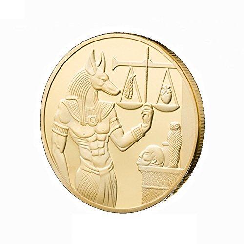 OZUKO Alte Ägypten Anubis Herausforderung Münze Ägyptische Mythologie Waage Münzen