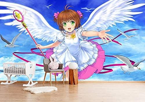 "3D Cardcaptor Sakura 228 Japan Anime Tapeten Drucken Spiel Karikatur Cosplay   Selbstklebend Tapete MXY WALLPAPER DE Wendy   , 【164""x100""】416x25cm  )"