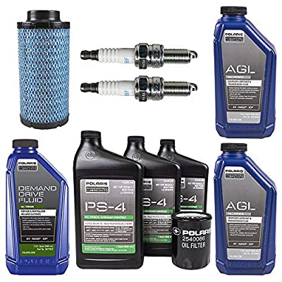Polaris OEM Fluid & Full Synthetic Oil Change Kit with Air Filter for 2016 RZR XP 4 1000 & Turbo