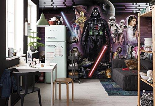 Komar -  Star Wars - Fototapete DARTH VADER - 368x254 cm - Tapete, Wandgestaltung, Dekoration, Empire, Rebellen, Luke, Leia, Kinderzimmer, Wohnzimmer - 8-482