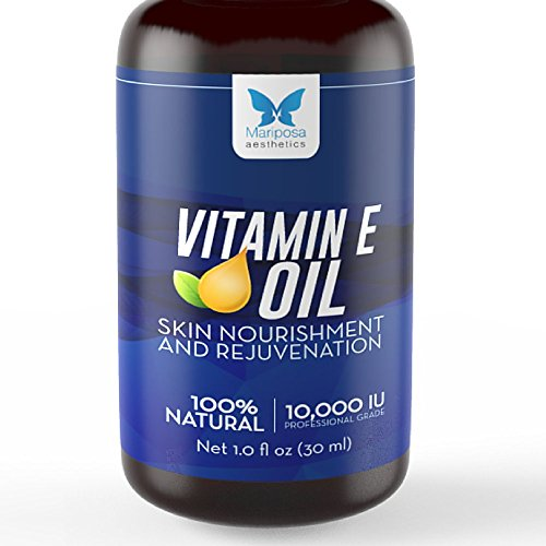 Vitamin E Oil, 100% Natural & Pure — 1oz Made in Canada — Improves Skin, Cuticle & Hair Health,...