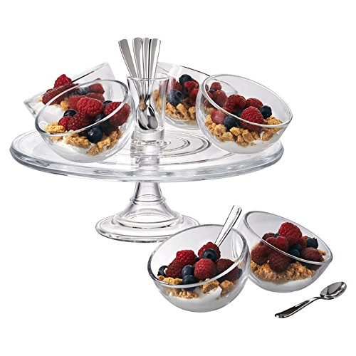 Artland 15 Piece Orbit Dessert Set, Clear
