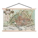 Textil Poster Historische Stadtpläne - Alte und
