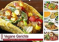 Vegane Gerichte. Abwechslungsreich, kreativ und koestlich (Wandkalender 2022 DIN A2 quer): Die vegane Ernaehrung ist exquisit und einfacher als man denkt! (Monatskalender, 14 Seiten )