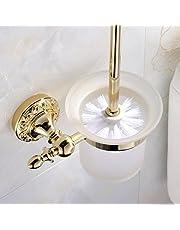 Weare Home Wandmontage, badkameraccessoire, modern Ti-PVD afwerking, messing, kleur goud, wc-borstelhouder en toiletborstel badkameraccessoires