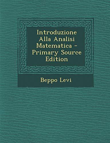 Introduzione Alla Analisi Matematica