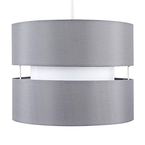 'Minisun' - Moderna pantalla de lámpara 'Sophia' colgante con 2 niveles de color gris