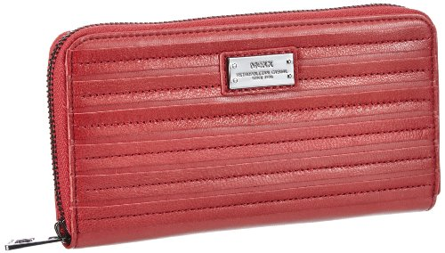 Mexx Damen 12kaw255 Striped Wallet Portemonnaies, Pink (Electric Pink 699), 19x10x2 cm