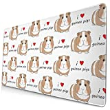 AOOEDM Alfombrilla de ratón I Love Guinea Pigs - Brown Extended Large Mouse Pad 15.8 X 29.5 in Funny Design Computer Gaming Mouse Mat Desk Non-Slip Rubber Base Mousepad for Office/Home