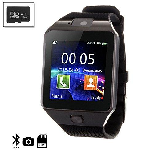 Silica DMN234SD4 - Smartwatch tekkiwear Dama n234 con Micro SD de 4gb Clase, Color Negro