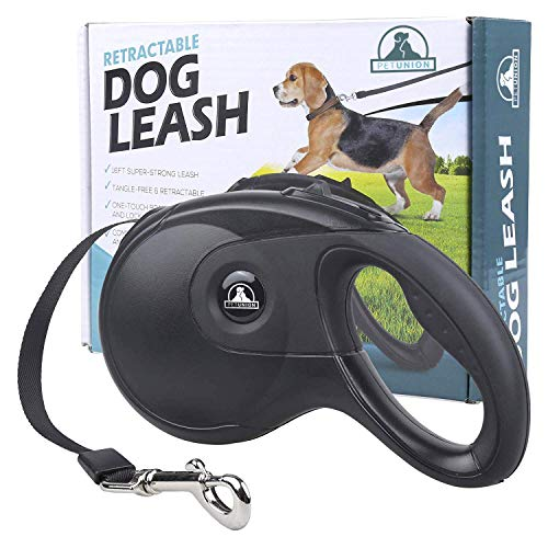 Pet Union Dog Lead Retractable Dog Leash, 16FT Super Strong Leash, Comfort Durable Grip, Tangle-Free Feeder, Safe for Dogs 15-115lbs!