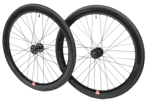 Retrospec Mantra 700c Deep V Fixed-Gear/Single-Speed Wheelset, Black