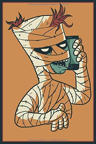 Notizbuch A5 Liniert Mein Telefonbuch Tagebuch Adressbuch 120 Seiten: Schreibblock Halloween Mumie Geister Gespenst Zombie Notizblock Telefon Adressen ... Halloween Kinder Fasching Mann Frauen