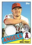 2020 Topps 1985 Relics #85R-MT Mike Trout Game Worn Angels Jersey Baseball Card