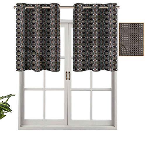Hiiiman Cenefa de cortina con ojales de alta calidad, estilo vintage, 106,7 x 45,7 cm para decoración de interiores