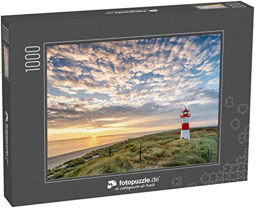 fotopuzzle.de Puzzle 1000 Teile Roter Leuchtturm auf der Insel Sylt in Nordfriesland, Schleswig-Holstein, Deutschland