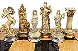 Greek Mythology Olympus Gods Zeus vs Poseidon Set of Chess Men Pieces Antique White - NO Board