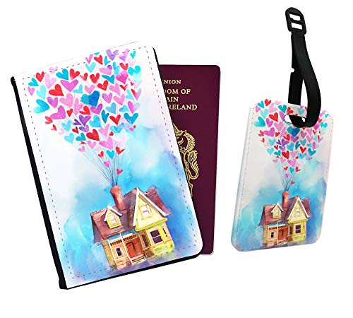 Up - Carl Ellie House Balloons Passport Cover and Luggage Tag