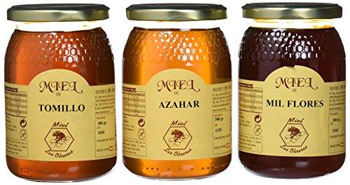 Miel Las Obreras pack 3 variedades 500 g - Total 1500 g