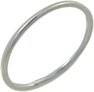 California Toe Rings Women's Sterling Silver 1Mm Thin Wire Fitted Midi Toe Ring