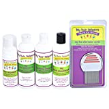 Complete Family Lice Treatment Kit - Nit Removal Comb, Foam Mousse, Dimethicone Oil, Shampoo & Essential Oil Conditioner   Naturally Formulated to Remove Eggs in Kids Hair Treats 2-3 Family Members