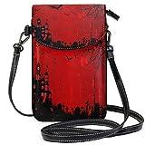 XCNGG Monedero pequeño para teléfono celular Halloween Cell Phone Purse Wallet for Women Girl Small Crossbody Purse Bags
