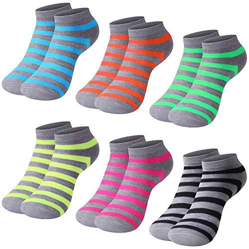 L&K-II 12 Paar Baumwolle Damen Sneaker Socken Füßlinge EDS92239 35/38
