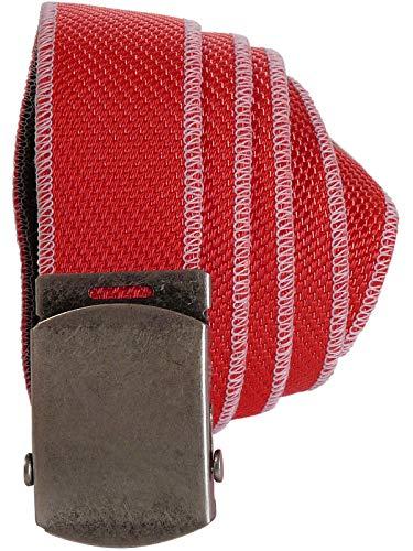 Harrys-Collection Damen Herren Gürtel mit Rollschliesse aus Feuerwehrschlauch, Farben:rot, Bundweite:Einheitsgrösse