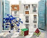 Cuadro Obanban de NumbersWindow para piano DIY pintura al óleo para adultos y niños, set de regalo de lienzo impreso arte Home Decoration 16 x 20 pulgadas sin marco