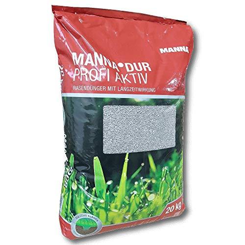 Manna DUR Profi Aktiv Rasendünger 20kg mit Eisen indirekt gegen Moos im Rasen