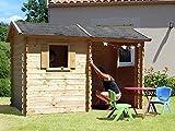 SOULET Spielhaus'Magda' mit Anbau Garten Holzhaus Outdoor Kinderspielhaus