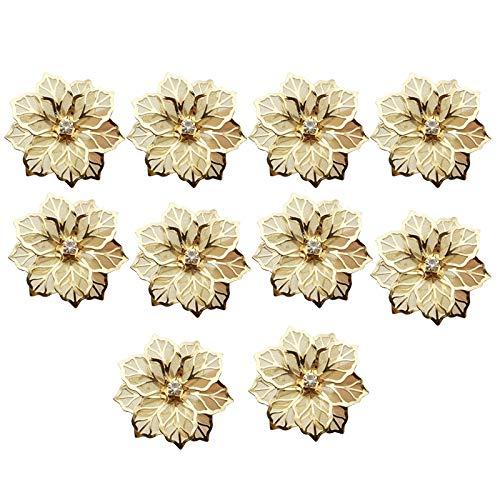 TOPSALE 10PZ Fiore Design Anelli di Tovagliolo nel Metallo Oro Tovagliolo Fibbia Portatovaglioli Ristorante 'Hotel Festa di Nozze Ovest Tavolo da Pranzo Decorazione