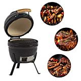 Aoxun 13' Kamado Grill, Roaster and Smoker. BBQ Grill,Multifunctional Ceramic Barbecue Grill, Egg Outdoor Kitchen Style