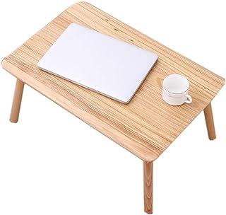 Laptop Desk,Deakj Laptop Table Wood Simple Assembled For Student Residences Home 60cm × 40cm × 28.5cm (Color : Wujinmu)