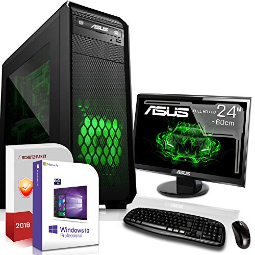 Gaming PC/Multimedia Computer inkl. Windows 10 Pro 64-Bit! - AMD Ouad-Core A8-7600 4X 3,8 GHz Turbo - Radeon HD R7000 6xCore APU - 8GB DDR3 RAM - 500GB HDD - 24-Fach DVD Brenner - USB 3.0 - DVI - HD