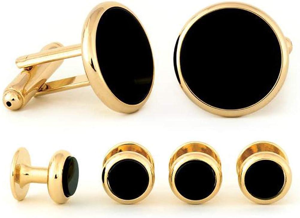 Radius Edge Black Onyx Cuff Links & Studs Set