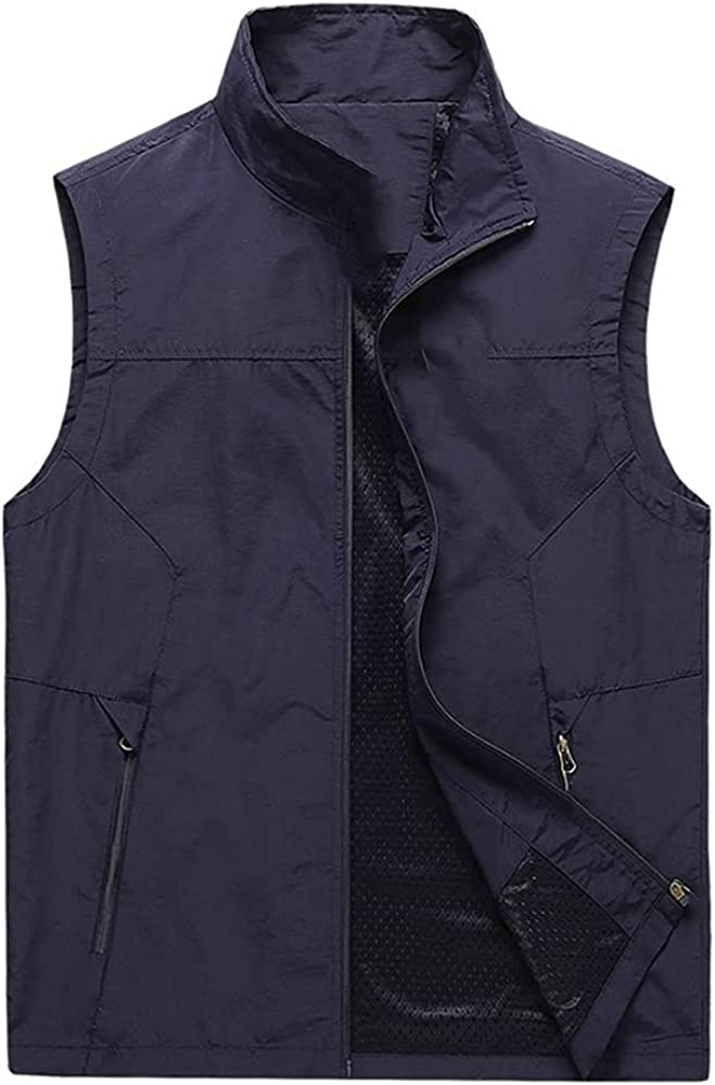 Men Spring Outwear Casual Sleeveless Windproof Outdoor Vest Outlet sale feature Popular products