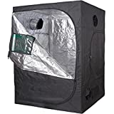 "TopoLite 60""x60""x80"" Grow Tent Reflective Mylar for Hydroponic Indoor Planting (60""x60""x80"" Metal Corner/Window)"