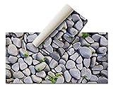 Alfombra Vinílica - (Piedras, 80x40 cm) - Distintos diseños y tamaños - Opción personalizable - Alfombra Cocina, baño, salón comedor - Antideslizante - Alfombra dormitorio - Goma esponjosa y suelo PVC