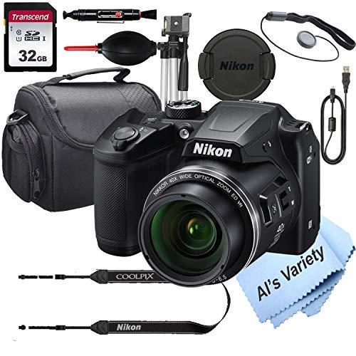 Nikon COOLPIX B500 16 MegaPixel Digital Camera + 32GB Card, Tripod, Case and More (13pc Bundle)