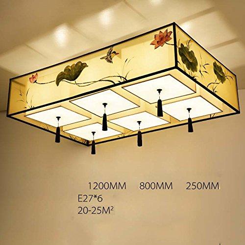 Deckenleuchten MEILING Moderne Tuch Lampen und Laternen Restaurant Lichter Schlafzimmer Rechteckige (größe : 120cm)