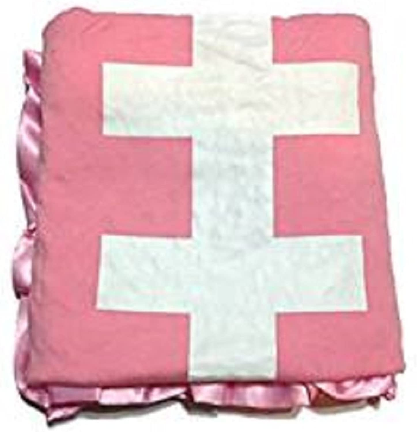 KWC Soft and Cozy Large Minky Minkee Ruffled Edge Baby Shower Throw Blanket (Pink Football, One Size)