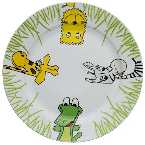 WMF Safari Kindergeschirr Kinderteller, Ø 19,0 cm, Porzellan, spülmaschinengeeignet, farb- und lebensmittelecht