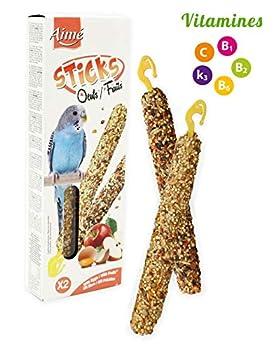 Aime Baguettes aux Fruits/Oeufs pour Perruches/Friandises pour Oiseaux/2 Baguettes Croustillantes/Gourmandes