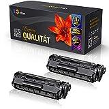 Juego de 2 cartuchos de tóner compatibles con Canon Fax L150 Fax L170 3500B002 728, color negro