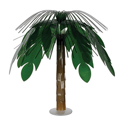Beistle Jungle Palm Cascade Centre de table Vert/marron