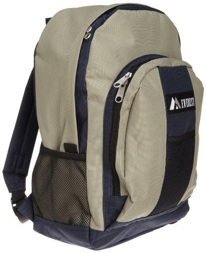 Everest Gepäck-Rucksack mit Vorder- und Seitentaschen, Marineblau/Khaki, Einheitsgröße