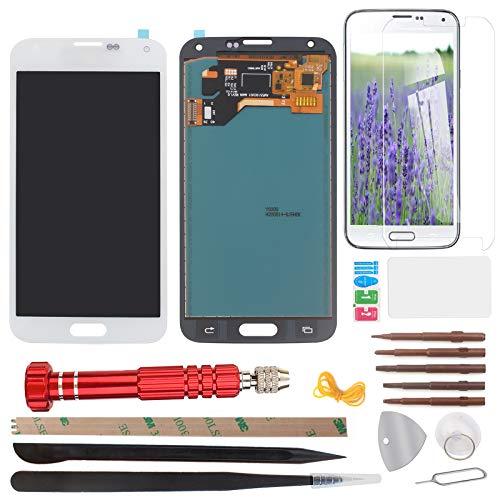 West Dragon - Pantalla táctil LCD para Samsung Galaxy S5 (incluye herramientas), color blanco