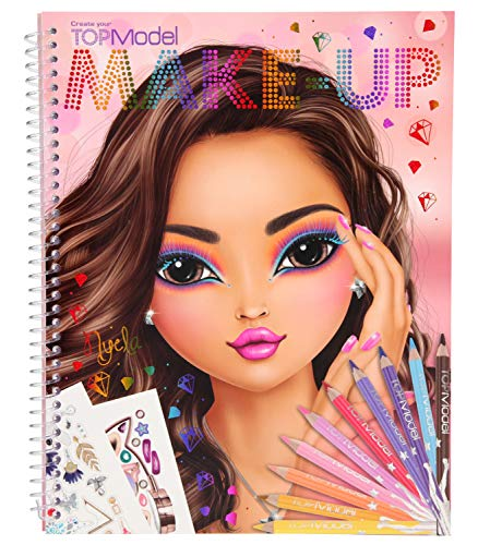 Depesche 10728 - Malbuch, TOPModel Create your Make-Up, ca. 24 x 19,5 x 1 cm